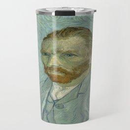 Vincent van Gogh's Self-Portrait, September 1889 Travel Mug