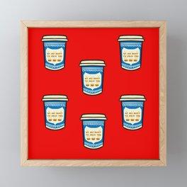 NYC Coffee Framed Mini Art Print