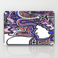 techno iPad Cases featuring Salmon Techno by Madison R. Leavelle