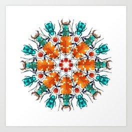 Bug Mandala Art Print