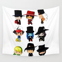 anime Wall Tapestries featuring Anime Hatters by artwaste