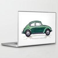 volkswagen Laptop & iPad Skins featuring Volkswagen Beetle by BSJC Automotive Art