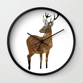 deer · things from the past Wall Clock