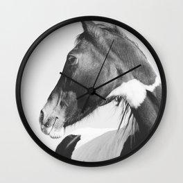 Vertical Horse Photograph Wall Clock