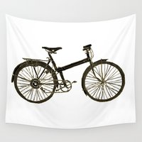 bicycle Wall Tapestries featuring Bicycle by chyworks