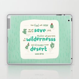 """Streams in the Desert"" Hand-Lettered Bible Verse Laptop & iPad Skin"