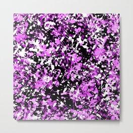 Orchid Splatter Paint Metal Print