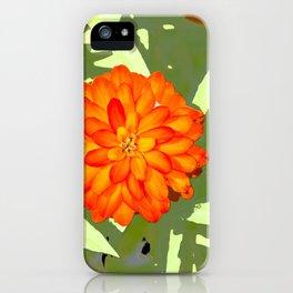 Orange Flower Abstract iPhone Case