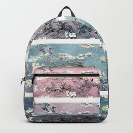 Vincent Van Gogh : Almond Blossoms Panel arT Pastel Pink Blue Teal Backpack