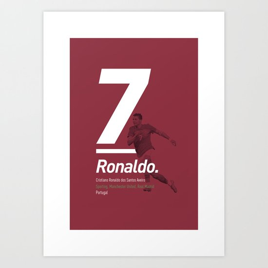 Ronaldo Portugal 7 Art Print