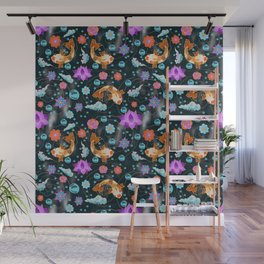 Water garden pattern Wall Mural