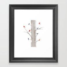 Tree Birds Framed Art Print