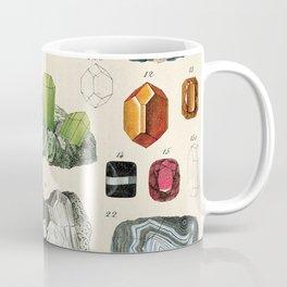 Minerals Crystals Gems Precious Stones Vintage Scientific Illustration Encyclopedia Labeled Diagrams Coffee Mug