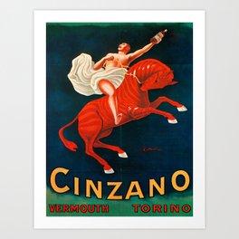 Vintage poster - Cinzano Vermouth Torino Art Print