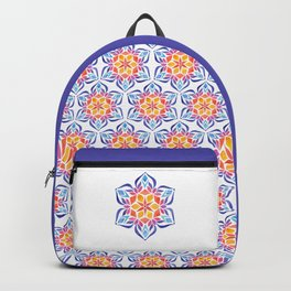 Snowflake - Blue and Yellow Backpack