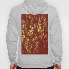 Yell0w Orange Abstract Leaf Hoody
