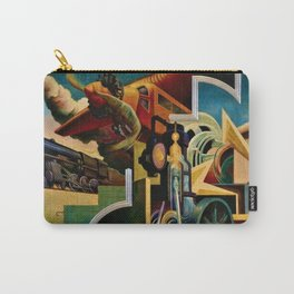 Classical Masterpiece 'Instruments of Power - Train, Airplane, Steam by Thomas Hart Benton Carry-All Pouch