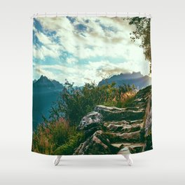 Hiking (Color) Shower Curtain