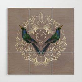 Endurance Crystal Grid in Mauve Wood Wall Art