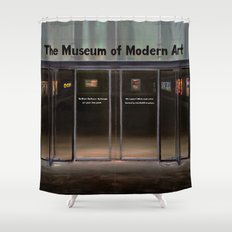 MoMA's Rules (oil on canvas) Shower Curtain