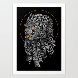 Barbarian Lion Art Print