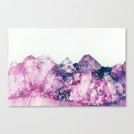 Amethyst Cluster Canvas Print