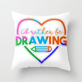 Painter Painting Tool Colorful Art Hobby Gift Throw Pillow