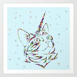 Behold the Wondrous Unicat! Art Print