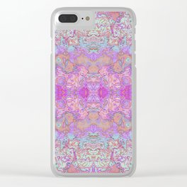 Pink Ice Abstract Watercolor Clear iPhone Case