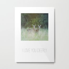 LOVE YOU DEERLY PHOTOGRAPH Metal Print