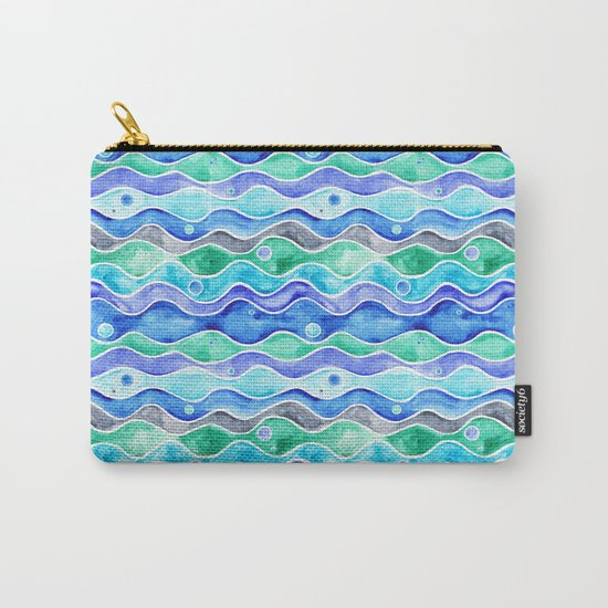 Ocean Pattern - Dolphin Carry-All Pouch
