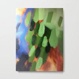 Vivid Green Metal Print