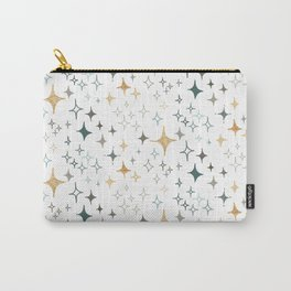 Hand Drawn Stars in Gold and Tan Carry-All Pouch