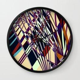 SWEEPING LINE PATTERN I-E Wall Clock