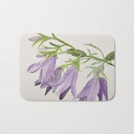Purple bell flowers Bath Mat