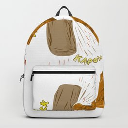 Boxer Hitting Punching Bag Drawing Backpack