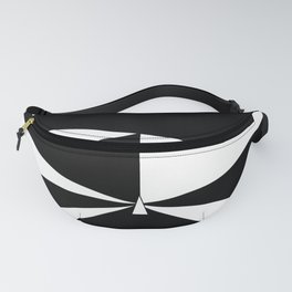 Triangles in Black and White Fanny Pack