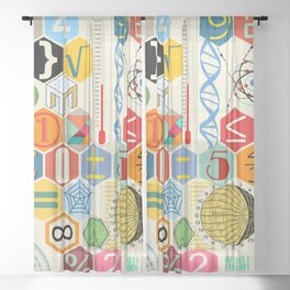 Math in color Sheer Curtain