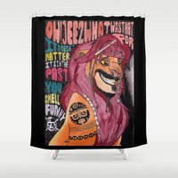 simba Shower Curtains featuring Captain Simba Sparrow of Pride Rock by Frances May K