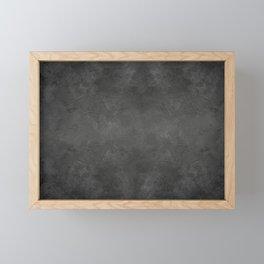 Black Faux Concrete Stone Texture Industrial Art Framed Mini Art Print