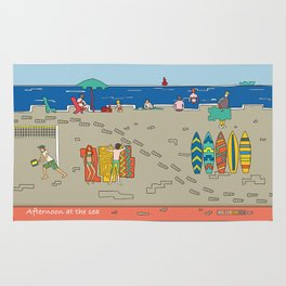Afternoon at the sea Rug