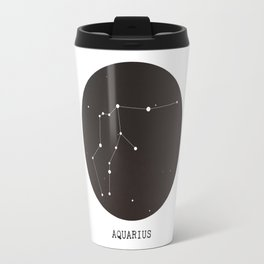 Aquarius Star Constellation Travel Mug