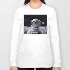 Spaceman oh spaceman, come rescue me (teal) Long Sleeve T-shirt