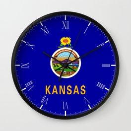 Kansas State Flag Wall Clock