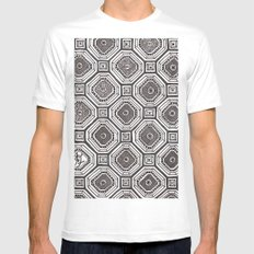 Textile 8 White MEDIUM Mens Fitted Tee