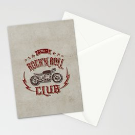 Rock 'n Roll Motorcycle Club Stationery Cards