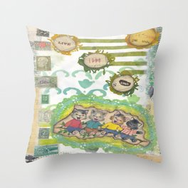 live love laugh cats Throw Pillow