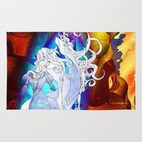 the last unicorn Area & Throw Rugs featuring The Last Unicorn by PencilBones