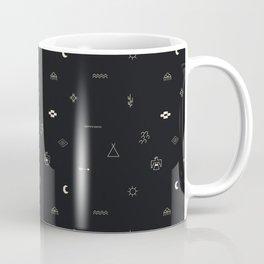 Southwestern Symbolic Pattern in Black & Cream Coffee Mug