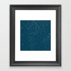 Snowfall at Night Framed Art Print